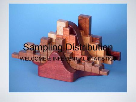 Sampling Distribution WELCOME to INFERENTIAL STATISTICS.