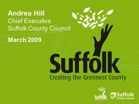 Andrea Hill Chief Executive Suffolk County Council March 2009.