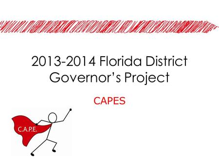 2013-2014 Florida District Governor's Project CAPES.