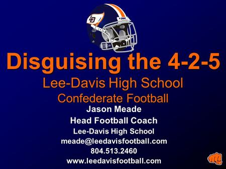 Disguising the Lee-Davis High School Confederate Football