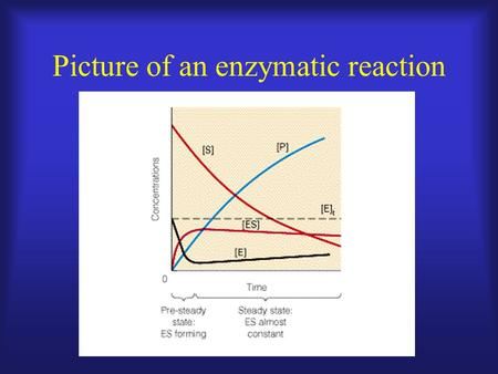 Picture of an enzymatic reaction. Velocity =  P/  t or -  S/  t Product Time.