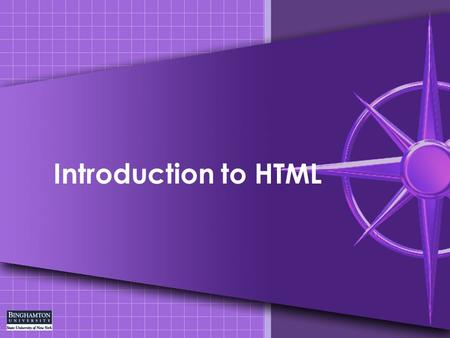 Introduction to HTML. HTML Introduction HTML – Hypertext Markup Language are the instructions that tell a browser how to lay out the information (text,