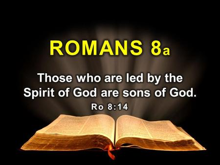 Theme Living by personal appetites is ultimately destructive but following the Spirit of God brings belonging, direction and peace. The word Spirit appears.