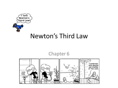 Newton's Third Law Chapter 6.
