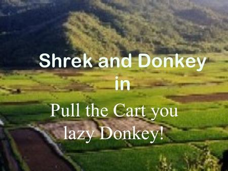 Shrek and Donkey in Pull the Cart you lazy Donkey!