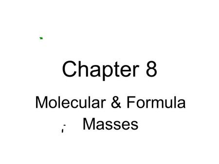 atomic and molecular masses pdf