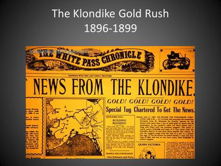 The Klondike Gold Rush 1896-1899. The Klondike Gold Rush brought fame and fortune to people… Keish- Skookum Jim Mason (James Mason) Skookum-Jim Mason.