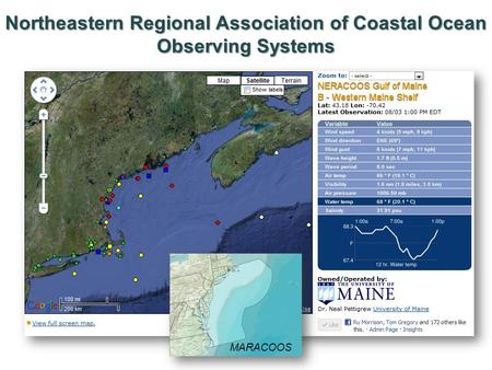 Northeastern Regional Association of Coastal Ocean Observing Systems MARACOOS.