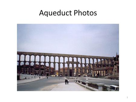 1 Aqueduct Photos. 2 3 4 How is an aqueduct constructed? The first story is composed of six arches. The second story consists of ten arches, and the.
