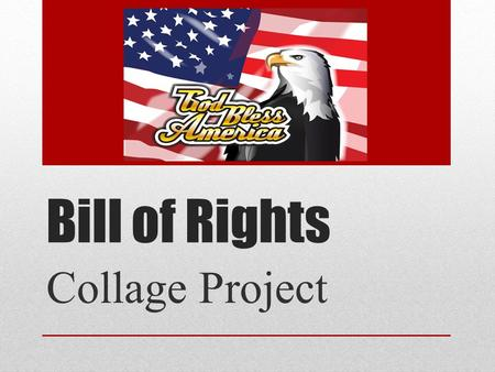 Bill of Rights Collage Project.