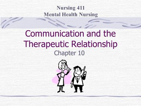 what is a therapeutic relationship in mental health
