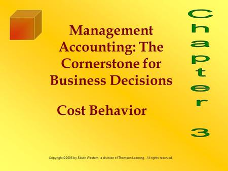 management accounting theory of cost behavior Cost accounting accounting is the collection and aggregation of information for decision makers including managers, investors, regulators, lenders, and the public accounting systems affect behavior and management and have affects across departments, organizations, and even countries this paper will give the reader an understanding about cost accounting.