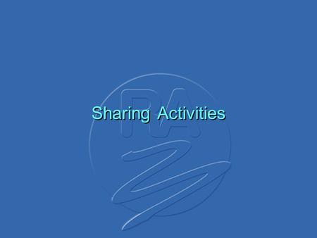 Sharing Activities. DocumentsDocuments WAG Sharing(03)22FWA. P-P antenna pattern Piping Hotnetworks WAG Sharing(03)23Mesh on ENG/OBNokia WAG Sharing(03)24FWA.