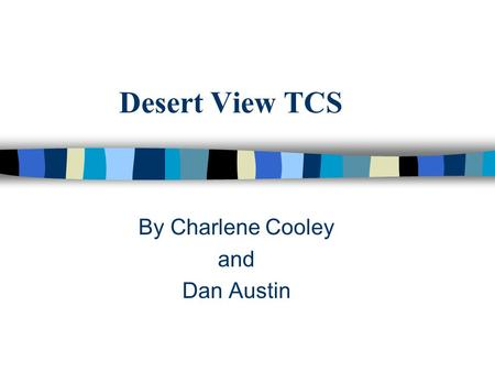 Desert View TCS By Charlene Cooley and Dan Austin.