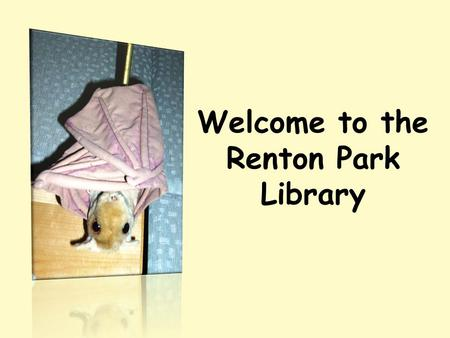 Welcome to the Renton Park Library. There are four main sections in the library: Everybody Fiction Nonfiction Reference.