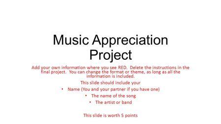 Music Appreciation Essay
