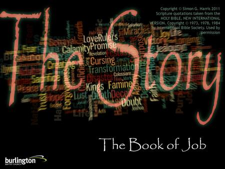 The Book of Job Copyright © Simon G. Harris 2011