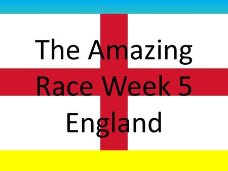 The Amazing Race Week 5 England. What is the currency of England? The Euro is the currency of England The traditional currency of England is the Pound.
