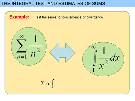 THE INTEGRAL TEST AND ESTIMATES OF SUMS
