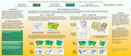 Identification of side-door/back-door cold fronts for fire weather forecasting applications Joseph J. Charney USDA Forest Service Northern Research Station,