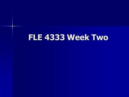 FLE 4333 Week Two. Professional Learning Communities (PLCs) Purposefully-organized groups that work together on projects and other such tasks over a period.