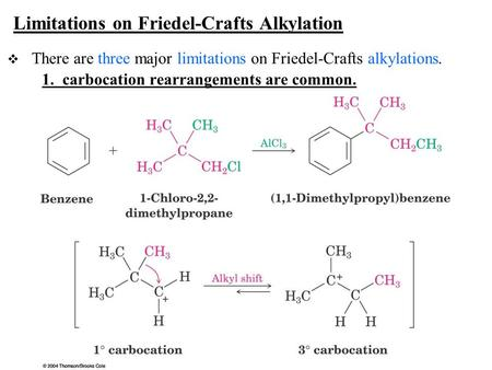 Limitations on Friedel-Crafts Alkylation
