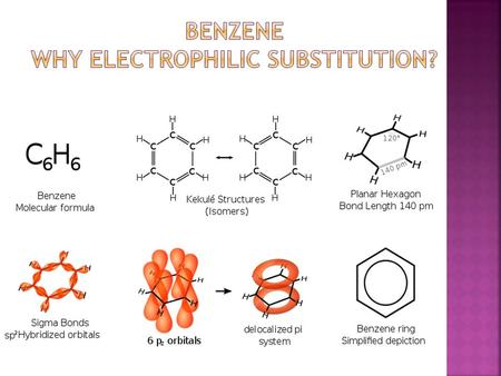  Delocalised electrons are what makes benzene so stable and allow it to resist addition reactions.  Electron rich benzene rings are prone to attack.
