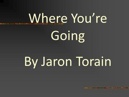 Where You're Going By Jaron Torain. Founded in 1867 Historically Black College Located in Raleigh, North Carolina.