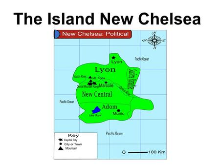 The Island New Chelsea. Factors Contributing to Climate Location: 30S, 165E Ocean Currents: East Australia Unique Physical Features: Mountain range Wind.