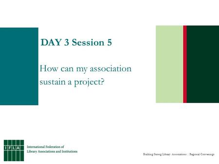 Building Strong Library Associations | Regional Convenings DAY 3 Session 5 How can my association sustain a project?