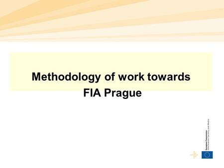 Methodology of work towards FIA Prague. Future Internet – challenges for research  FIA so far achieved to assemble important numbers of EU researchers.