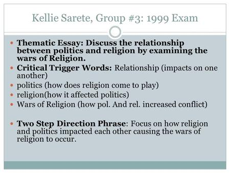 discuss the relationship between politics and religion