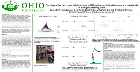 The effect of load and target height on muscle EMG activation of the abdominals and paraspinals in multi-joint reaching tasks James S. Thomas, Candace.