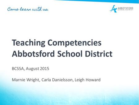 Teaching Competencies Abbotsford School District