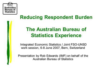 Invited paper statistics lithuania australian bureau of statistics federal statistical office - Bureau of economic statistics ...