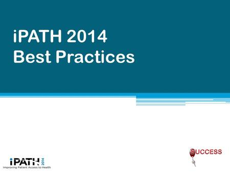 IPATH 2014 Best Practices. Required steps for Attending Providers It is important that medication history is updated before Admission Medication Reconciliation.