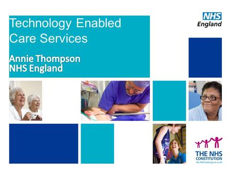 Technology Enabled Care Services. Care of people with long term conditions accounts for: – 50% of all GP appointments – 64% of outpatient appointments.