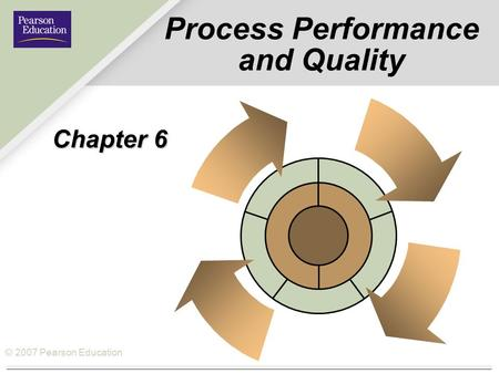 © 2007 Pearson Education Process Performance and Quality Chapter 6.