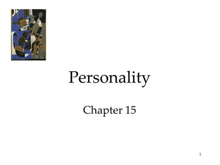 1 Personality Chapter 15. 2 Personality An individual's characteristic pattern of thinking, feeling, and acting. Each dwarf has a distinct personality.