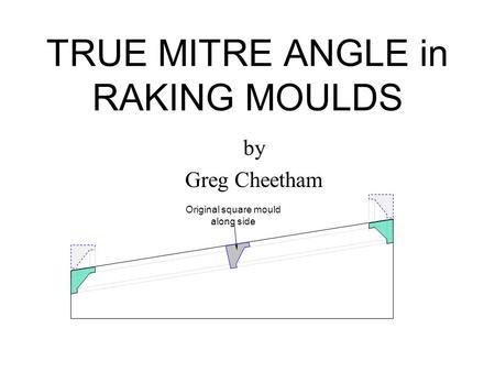 TRUE MITRE ANGLE in RAKING MOULDS by Greg Cheetham Original square mould along side.
