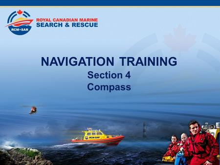 NAVIGATION TRAINING Section 4 Compass