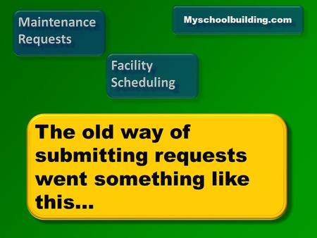 Myschoolbuilding.com. Facilities (maintenance, afterhours school usage) Transportation Facilities (maintenance, afterhours school usage) Transportation.