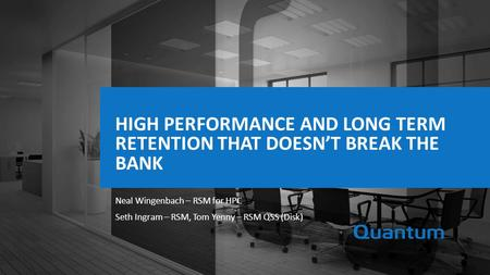 High Performance and long term retention that doesn't break the bank
