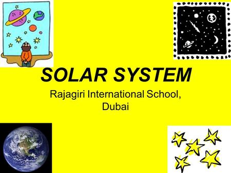 SOLAR SYSTEM Rajagiri International School, Dubai.
