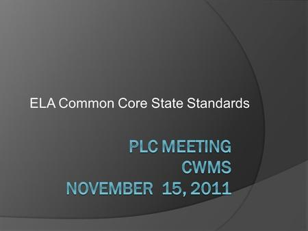ELA Common Core State Standards. Hunt Institute Videos   GLI&feature=mfu_in_order&list=UL.
