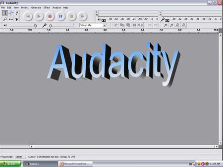 Track 1 – The name of the project I am researching is 'Audacity', a free music recording programme. It is an open source software which allows users to.