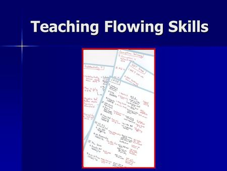 Teaching Flowing Skills. Purposes of Flowing Essential to an organized presentation Enables direct clash Becomes your notes during a speech You see what.