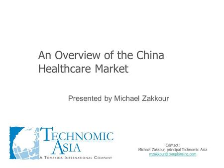 An Overview of the China Healthcare Market