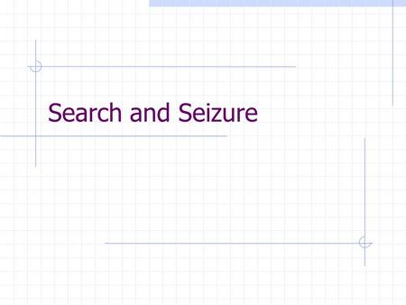 Search and Seizure. I) Search and Seizure A) The 4 th amendment outlines the rules governing search and seizure.