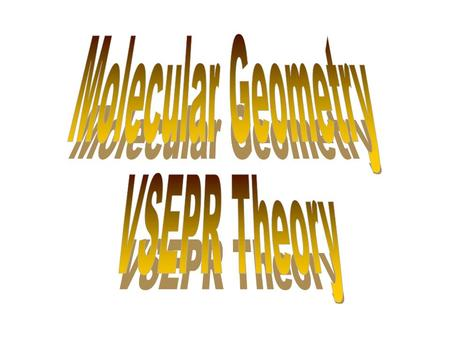 to predict the molecular shape for molecules using Valence Shell Electron Pair Repulsion (VSEPR) theory. shapes to know: –linear –bent –trigonal planar.